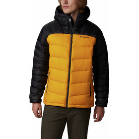 Columbia Centennial Creek Down Hooded Jacket Men golden yellow/shark
